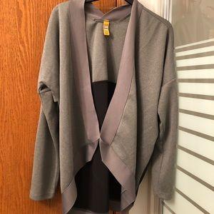 LOLË | black and grey cardigan